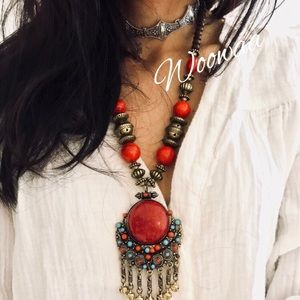 Jewelry - Brand new indian tassel necklace
